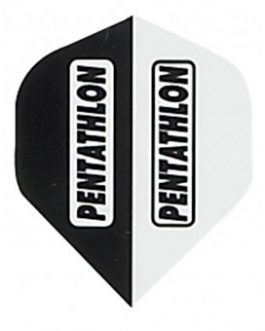 Black and White Pentathlon Darts Flights